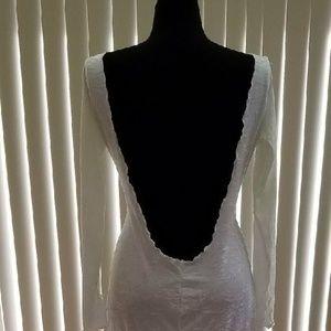 Hollywood Glam Crush Velvet BACKLESS Wedding Gown